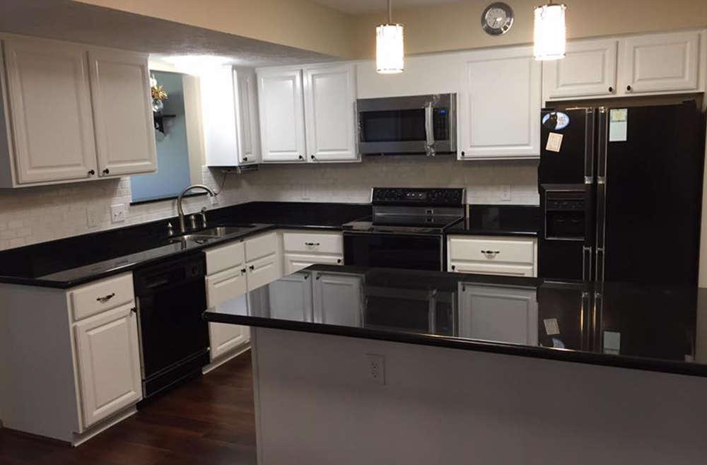 Kitchen, Painted Cabinets, Lighting and Backsplash